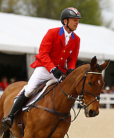 Peter Barry and #21 Kilrodan Abbott from Canada at the Rolex Three Day Event.   April 28, 2013..