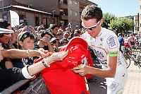 Alexandre Geniez before the stage of La Vuelta 2012 between La Robla and Lagos de Covadonga.September 2,2012. (ALTERPHOTOS/Acero) /NortePhoto.com<br /> <br /> **CREDITO*OBLIGATORIO** <br /> *No*Venta*A*Terceros*<br /> *No*Sale*So*third*<br /> *** No*Se*Permite*Hacer*Archivo**<br /> *No*Sale*So*third*