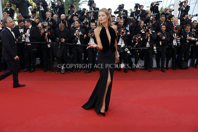 WWW.ACEPIXS.COM<br /> <br /> May 11, 2016 Cannes France<br /> <br /> Doutzen Kroes arriving at the screening of 'Cafe Society' at the opening gala of the annual 69th Cannes Film Festival at Palais des Festivals on May 11, 2016 in Cannes, France.<br /> <br /> <br /> <br /> Please byline: Famous/ACE Pictures<br /> <br /> ACE Pictures, Inc.<br /> www.acepixs.com, Email: info@acepixs.com<br /> Tel: 646 769 0430