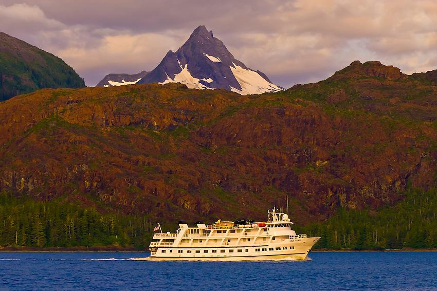 Lindblad Expeditions' MV Sea Bird sailing throught the Frederick Sound, Inside Passage, Southeast Alaska