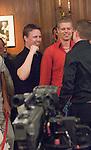 """Grundtvig celebrates with his Danish """"teammates."""""""