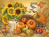 Dona Gelsinger, STILL LIFE STILLEBEN, NATURALEZA MORTA, paintings+++++,USGE1702,#i#, EVERYDAY ,harvest,sunflowers,pumkins