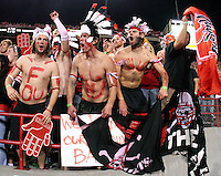 The Nebraska student section shows its support for the Huskers during Saturday's football game at Memorial Stadium in Lincoln, Neb. Nebraska defeated No. 20 Oklahoma 10-3