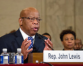 Panel testifying before the United States Senate Judiciary Committee on the nomination of US Senator Jeff Sessions (Republican of Alabama) to be Attorney General of the United States on Capitol Hill in Washington, DC on Wednesday, January 11, 2017.<br /> Credit: Ron Sachs / CNPUnited States Representative John Lewis (Democrat of Georgia) testifys before the United States Senate Judiciary Committee against the nomination of US Senator Jeff Sessions (Republican of Alabama) to be Attorney General of the United States on Capitol Hill in Washington, DC on Wednesday, January 11, 2017.  <br /> Credit: Ron Sachs / CNP