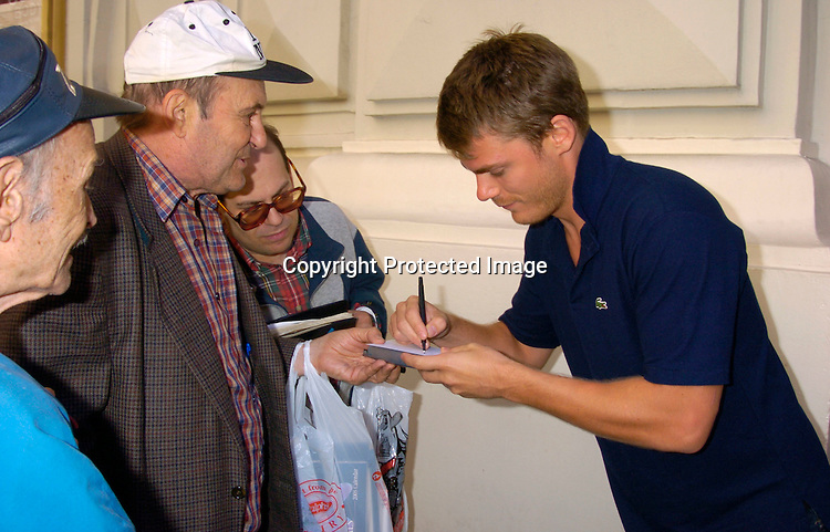 Jeff Branson ..at the Broadway Cares/ Equity Fights Aids Flea Market and Grand Auction on September 19, 2004 in Shubert Alley...Photo by Robin Platzer, Twin Images