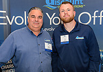PLANTSVILLE, CT. 30 April 2018-043018BS03 - From left, Al LaPorta Sr and Al LaPorta II of Discount Office Solutions pose for a photo during the annual Chamber's Business Expo and Health & Wellness Fair at the Aqua Turf on Monday evening. Bill Shettle Republican-American