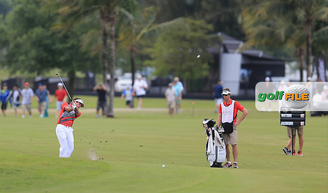 Bubba Watson (USA) on the 18th during day three at the WGC Cadillac championship at Doral Golf Resort & Spa,Doral, Florida,USA..Picture: Fran Caffrey / www.golffile.ie ..