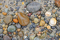 Rocks on Agate Beach.  Naikoon Provincial Park.  Graham Island. , Haida Gwaii (formerly the Queen Charlotte Islands), British Columbia, Canada