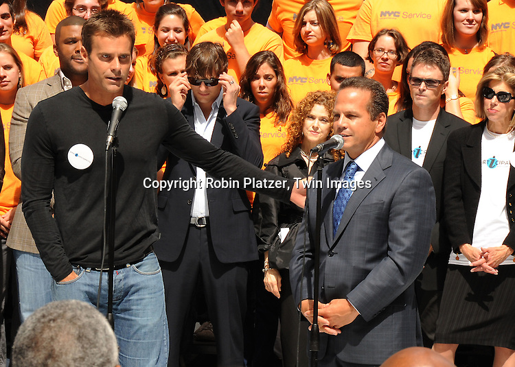 Cameron Mathison and Mayor David Cicilline of Providence,RI
