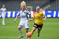 20190810 - ANDERLECHT, BELGIUM : Anderlecht's Charlotte Tison pictured in a duel with LSK's Therese Asland (r) during the female soccer game between the Belgian RSCA Ladies – Royal Sporting Club Anderlecht Dames  and the Norwegian LSK Kvinner Fotballklubb ladies , the second game for both teams in the Uefa Womens Champions League Qualifying round in group 8 , saturday 10 th August 2019 at the Lotto Park Stadium in Anderlecht  , Belgium  .  PHOTO SPORTPIX.BE for NTB NO | DAVID CATRY