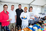 Cooking up a storm at the Valentia Island King Scallop Festival on Sunday were l-r; Caroline Daly(Valentia Ice Cream), Mathew Hinde, Rob Genockey, Fedencio Abad(Royal Hotel) & Emmi Jantti(Knightstown Cafe).