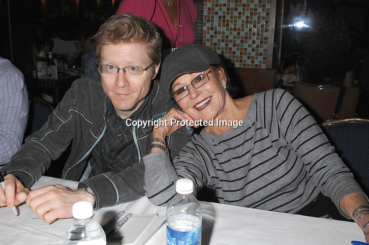Anthony Rapp and Marj Dusay..posing for photos at The 21st Annual Broadway Flea Market and Grand Auction benefitting Broadway Cares/..Equity Fights Aids on September 23, 2007 in Shubert Alley. ....Photo by Robin Platzer, Twin Images