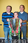 HEINEKEN CUP: Sean McLarnon, Ballinorg, Leanne Fitzsimons (Munster Mascot), Fyones and Denis J Collins Ardfert with the Heineken Cup at the Friends of Johnny Night at the Dogs in-aid of Cancer Research at the Kingdom Greyhound Stadium on Saturday.   Copyright Kerry's Eye 2008