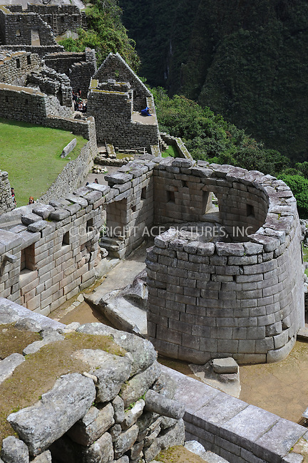 "WWW.ACEPIXS.COM . . . . . .January 8, 2013...Peru....Machu Picchu is a pre-Columbian 15th-century Inca site located 2,430 metres (7,970 ft) above sea level. It is situated on a mountain ridge above the Urubamba Valley in Peru, which is 80 kilometres northwest of Cusco and through which the Urubamba River flows. Often referred to as the ""City of the Incas""  on January 8, 2013 in Peru ....Please byline: KRISTIN CALLAHAN - ACEPIXS.COM.. . . . . . ..Ace Pictures, Inc: ..tel: (212) 243 8787 or 212 489 0521..e-mail: kristincallahan@aol.com...web: http://www.acepixs.com ."