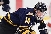 Connor Jones (Quinnipiac - 10) - The Harvard University Crimson and Quinnipiac University Bobcats played to a 2-2 tie on Saturday, November 5, 2011, at Bright Hockey Center in Cambridge, Massachusetts.