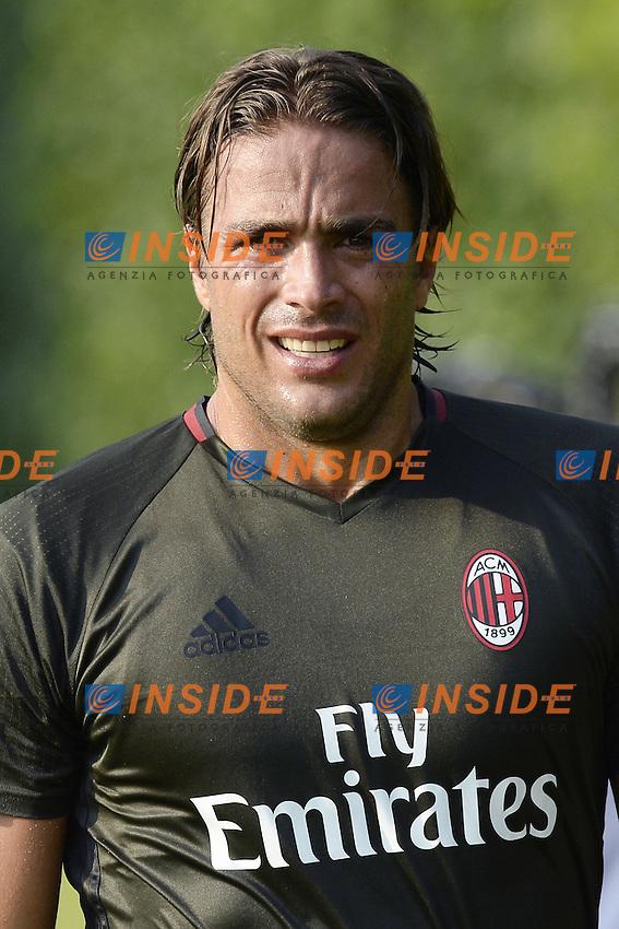 Carnago (Va) 07/07/2015 - 2016/2017 Calcio raduno A.C. Milan Football pre season training  / foto Daniele Buffa/Image Sport/Insidefoto<br /> <br /> <br /> nella foto: Alessandro Matri