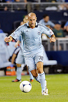 Aurelien Collin Sporting KC defender in action... Sporting Kansas City defeated New England Revolution 3-0 at LIVESTRONG Sporting Park, Kansas City, Kansas.