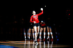 KANSAS CITY, KS - DECEMBER 14: Anezka Szabo #5 of the University of Nebraska is introduced prior to the Division I Women's Volleyball Semifinals held at Sprint Center on December 14, 2017 in Kansas City, Missouri. (Photo by Tim Nwachukwu/NCAA Photos via Getty Images)