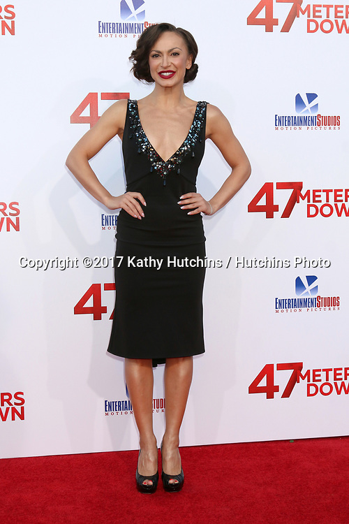 """LOS ANGELES - JUN 12:  Karina Smirnoff at the """"47 Meters Down"""" Premiere at the Village Theater on June 12, 2017 in Westwood, CA"""
