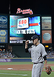 Masahiro Tanaka (Yankees), AUGUST 28, 2015 - MLB : Masahiro Tanaka of the New York Yankees walks back to the dugout after the bottom of the sixth inning during the Major League Baseball Interleague game against the Atlanta Braves at Turner Field in Atlanta, Georgia, United States. (Photo by AFLO)