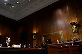 Supreme Court nominee Brett Kavanaugh testifies before the Senate Judiciary Committee on Capitol Hill in Washington, Thursday, Sept. 27, 2018. At right is Phoenix prosecutor Rachel Mitchell . (AP Photo/Andrew Harnik, Pool)