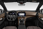 Stock photo of straight dashboard view of a 2018 DS DS7 Crossback Be Chic 5 Door SUV