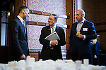 © Joel Goodman - 07973 332324 - all rights reserved . No onward sale/supply/syndication permitted . 28/07/2016 . Manchester , UK . Launch of the St Michael's city centre development , at the Lord Mayor's Parlour in Manchester Town Hall . Backed by The Jackson's Row Development Partnership (comprising Gary Neville , Ryan Giggs and Brendan Flood ) along with Manchester City Council , Rowsley Ltd and Beijing Construction and Engineering Group International , the Jackson's Row area of the city centre will be redeveloped with a design proposed by Make Architects . Photo credit : Joel Goodman