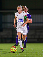 20190920 – LEUVEN, BELGIUM : OHL's captain Anaelle Jacquieline Wiard ispictured during a women soccer game between Dames Oud Heverlee Leuven A and RSC Anderlecht Ladies on the fourth matchday of the Belgian Superleague season 2019-2020 , the Belgian women's football  top division , friday 20 th September 2019 at the Stadion Oud-Heverlee Korbeekdam in Oud Heverlee  , Belgium .  PHOTO SPORTPIX.BE | SEVIL OKTEM