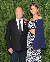 NEW YORK, NY - NOVEMBER 07:  Michael Kors and Zendaya attends 13th Annual CFDA/Vogue Fashion Fund Awards at Spring Studios on November 7, 2016 in New York City. Photo by John Palmer/MediaPunch