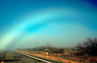 A fogbow (aka - white rainbow, cloudbow) in the desert. Arizona.