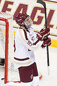 Ryan Fitzgerald (BC - 19) - The visiting University of Notre Dame Fighting Irish defeated the Boston College Eagles 7-2 on Friday, March 14, 2014, in the first game of their Hockey East quarterfinals matchup at Kelley Rink in Conte Forum in Chestnut Hill, Massachusetts.