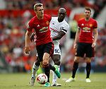 Darren Fletcher in action with Clarence Seedorf during the Michael Carrick Testimonial match at the Old Trafford Stadium, Manchester. Picture date: June 4th 2017. Picture credit should read: Simon Bellis/Sportimage