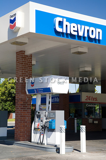 A Chevron gas station. Mountain View, California, USA