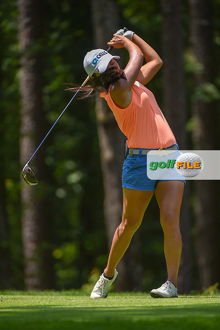 I.K. Kim (KOR) watches her tee shot on 2 during round 1 of the U.S. Women's Open Championship, Shoal Creek Country Club, at Birmingham, Alabama, USA. 5/31/2018.<br /> Picture: Golffile | Ken Murray<br /> <br /> All photo usage must carry mandatory copyright credit (© Golffile | Ken Murray)