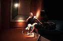 Patricia Urquiola, Spanish designer, gives an interview at Spazio Pontaccio, a design gallery in Milan, April 11, 2016. On the wall a carpet created by Urquiola. &copy; Carlo Cerchioli<br /> <br /> Patricia Urquiola, d3signer spagnola, rilascia un'intervista allo Spazio Pontaccio, galleria di design a Milano 11 parile, 2016. Alla parete sullo sfondo un tappeto di sua creazione.