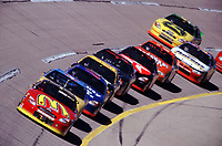 Bill Elliott leads early at Talladega during the Winston 500 on October 15, 2000.