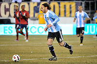 Gabriel Milito (6) of Argentina. The United States (USA) and Argentina (ARG) played to a 1-1 tie during an international friendly at the New Meadowlands Stadium in East Rutherford, NJ, on March 26, 2011.