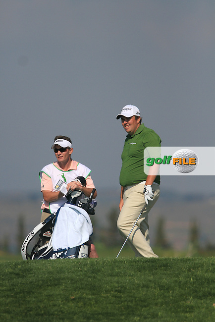 Shane Lowry (IRL) hits his 2nd shot on the 15th on Day 2 of the 2012 Sicilian Open at Verdura Golf and Spa Resort, Sicily, Italy...(Photo Jenny Matthews/www.golffile.ie)
