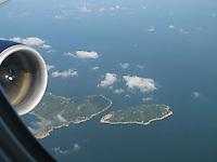 Aerial view of Hong Kong & South China Sea