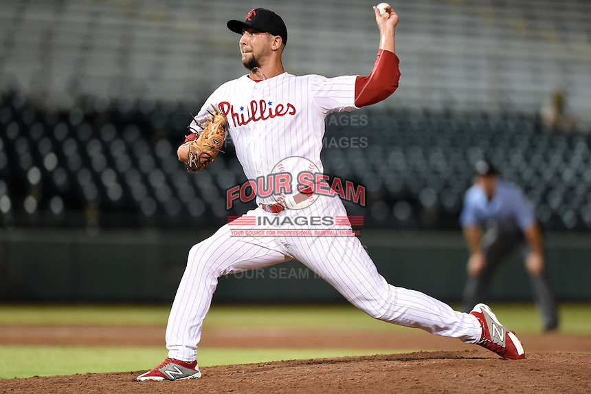 Scottsdale Scorpions pitcher Ethan Stewart (26) during an Arizona Fall League game against the Salt River Rafters on October 8, 2014 at Scottsdale Stadium in Scottsdale, Arizona.  Salt River defeated Scottsdale 6-3.  (Mike Janes/Four Seam Images)