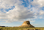 Fajada Butte, clouds..Chaco Culture National Historical Park