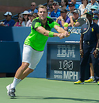Jack Sock (USA) loses the first set to Pablo Andujar (ESP) 6-4
