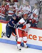 Cameron Bernier (Toronto - 3), Matt Nieto (BU - 17) - The Boston University Terriers defeated the visiting University of Toronto Varsity Blues 9-3 on Saturday, October 2, 2010, at Agganis Arena in Boston, MA.