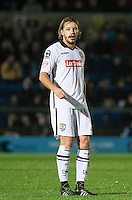 Alan Smith of Notts County during the Sky Bet League 2 match between Wycombe Wanderers and Notts County at Adams Park, High Wycombe, England on 15 December 2015. Photo by Andy Rowland.