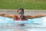 Woman swimming,doing breast stroke