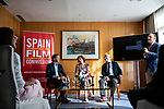 """James costos, the former US ambassador, Isabel Oliver, secretary of state for tourism,  Carlos Rosado, president of the Spain Film Commission, in the presentation of the """"Shooting in Spain"""" project<br /> October 3, 2019. <br /> (ALTERPHOTOS/David Jar)"""
