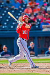28 February 2017: Washington Nationals infielder Stephen Drew in Spring Training action during the inaugural game against the Houston Astros at the Ballpark of the Palm Beaches in West Palm Beach, Florida. The Nationals defeated the Astros 4-3 in Grapefruit League play. Mandatory Credit: Ed Wolfstein Photo *** RAW (NEF) Image File Available ***