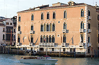 La facciata del Gritti Palace Hotel a Venezia.<br /> The facade of the Gritti Palace hotel, in Venice, Northern Italy.<br /> UPDATE IMAGES PRESS/Riccardo De Luca
