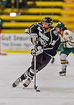 1 February 2015: Providence College Friar Defender Kendra Goodrich, a Sophomore from Apple Valley, MN, in first period action against the University of Vermont Catamounts at Gutterson Fieldhouse in Burlington, Vermont. The Friars fell to the Lady Cats 7-3 in Hockey East play. Mandatory Credit: Ed Wolfstein Photo *** RAW (NEF) Image File Available ***