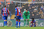 Crystal Palace's Alex McCarhy looks on dejected after his mistake led to Liverpool's opening goal<br /> <br /> - English Premier League - Crystal Palace vs Liverpool  - Selhurst Park - London - England - 6th March 2016 - Pic David Klein/Sportimage